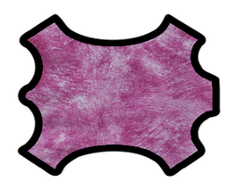 Demi peau de vachette rose