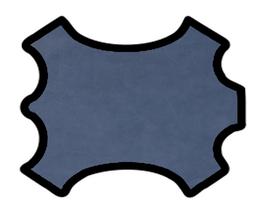 Peau de chèvre bleu navy grains fins