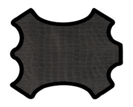 Peau d'agneau noir imprimé crocodile