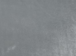 Morceau de cuir de veau nubuck argenté