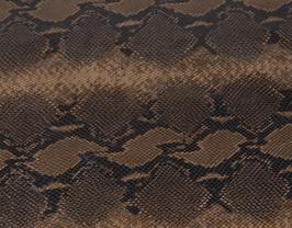 Morceau de cuir de vachette marron imprimé python