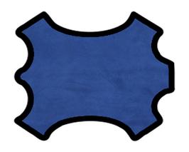 Peau d'agneau velours bleu de prusse