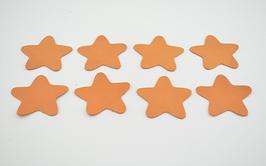 8 étoiles en cuir de veau mandarine
