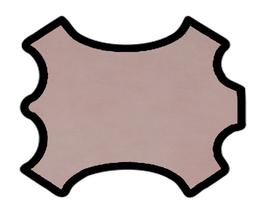 Demi peau de vachette washed rose pâle