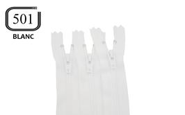 Fermeture éclair YKK blanche en nylon non séparable