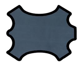 Peau de chèvre nappa bleu nuit