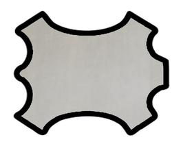 Demi peau de vachette gris australe