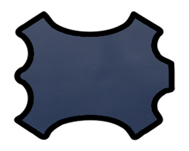 Peau de chèvre bleu marine