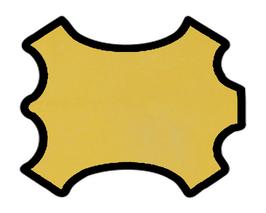 Peau de chèvre chagrin jaune ananas