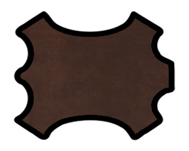 Peau d'agneau velours chocolat