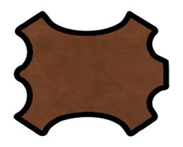 Peau de veau nubuck chocolat