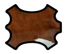 Demi peau de vachette à poils marron