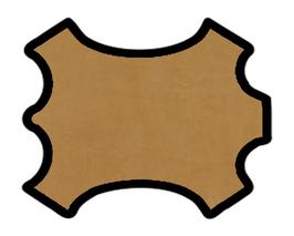 Demi peau de vachette nubuck camel