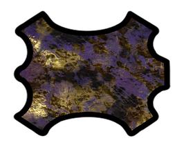 Demi peau de veau violet suède imprimé