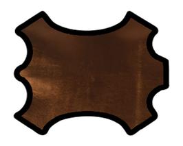 Peau d'agneau nappa cuivre métallisé