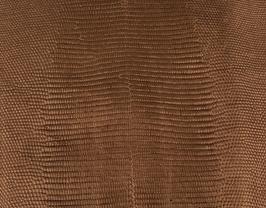 Coupon de cuir de vachette bronze imprimé lézard