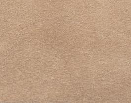 Coupon de cuir de veau velours camel