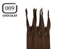Fermeture éclair YKK chocolat invisible