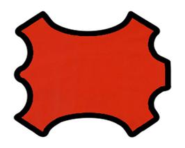 Demi peau de vachette nappa rouge