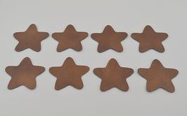 8 étoiles en cuir de chèvre doré grainé