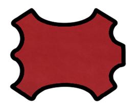 Peau d'agneau rouge carmin