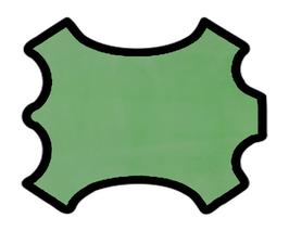 Peau d'agneau velours vert clair glacé