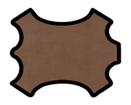 Peau d'agneau nubuck chocolat