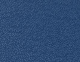 Coupon de cuir de vachette grainé bleu marine