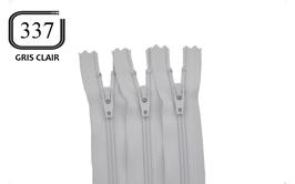 Fermeture éclair YKK gris clair en nylon non séparable