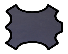 Demi peau de vachette nappa bleu nuit