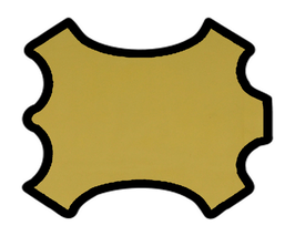 Peau d'agneau nappa jaune moutarde