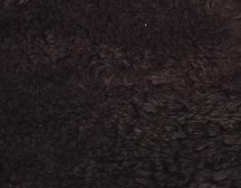 Morceau de cuir d'agneau lainé marron