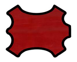 Peau de veau rouge carmin
