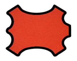 Peau de vachette imprimée rouge