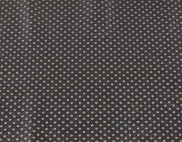Morceau de cuir de vachette noir imprimé points dorés