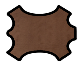 Peau d'agneau chocolat imprimé petit croco