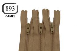 Fermeture éclair YKK camel en nylon non séparable