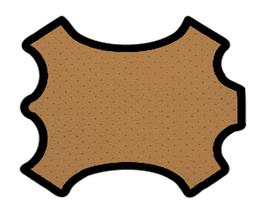 Demi peau de vachette perforée tabac