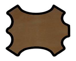 Peau de chèvre marron vintage