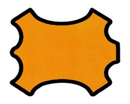 Peau de veau velours cachemire jaune topaze