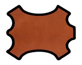 Demi-peau de vachette cognac