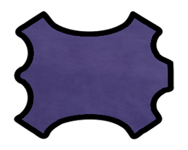 Peau d'agneau velours violet