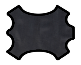 Demi peau de vachette nappa noir
