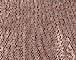 Morceau de cuir de vachette nubuck perforé rose