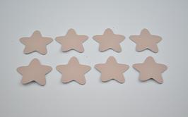 8 étoiles en cuir d'agneau rose saumoné