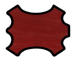 Peau de chèvre chagrin rouge pourpre