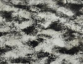 Morceau de cuir de chèvre argent et noir