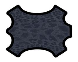 Peau d'agneau velours léopard bleu