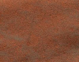 Coupon de cuir d'agneau velours vieilli cuivre métallisé