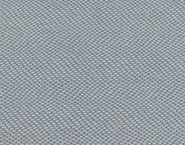 Coupon de cuir d'agneau bleu grainé blanc pailleté